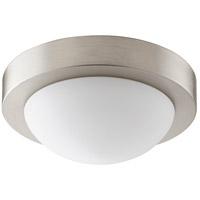 Quorum 3505-9-865 Signature 1 Light 9 inch Satin Nickel Flush Mount Ceiling Light in GU24