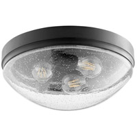 Quorum 3508-14-69 Fort Worth 3 Light 14 inch Noir Flush Mount Ceiling Light
