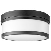 Quorum 3509-12-69 Celeste 2 Light 12 inch Noir Flush Mount Ceiling Light
