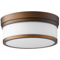 Quorum 3509-12-86 Celeste 12 inch Oiled Bronze Flush Mount Ceiling Light Satin Opal