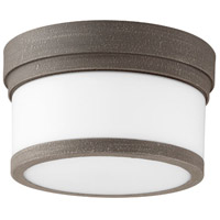 Quorum 3509-9-17 Celeste 1 Light 9 inch Zinc Flush Mount Ceiling Light