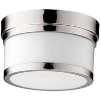 Quorum 3509-9-62 Celeste 9 inch Polished Nickel Flush Mount Ceiling Light, Opal