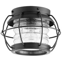 Quorum 352-10-69 Galveston 1 Light 11 inch Noir Flush Mount Ceiling Light