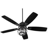 Quorum 3525-69 Galveston 52 inch Noir with Weathered Oak Blades Ceiling Fan
