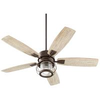 Quorum 3525-86 Galveston 52 inch Oiled Bronze with Weathered Oak Blades Indoor Ceiling Fan