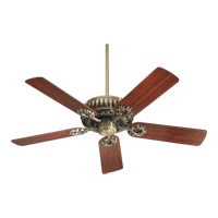 Quorum 35525-4 Empress 52 inch Antique Brass with Medium Oak Blades Ceiling Fan