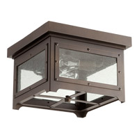 Quorum 357-13-86 Riverdale 2 Light 13 inch Oiled Bronze Outdoor Ceiling