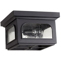 Fuller 2 Light 13 inch Noir Outdoor Flush Mount