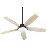 Quorum 36525-9186 Colton 52 inch Oiled Bronze with Reversible Walnut and Weathered Oak Blades Indoor Ceiling Fan Satin Opal
