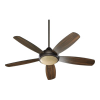 Colton 52 inch Oiled Bronze with Teak Blades Ceiling Fan in Teak and Walnut