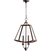 Quorum International Kaufmann 2 Light Pendant in Oiled Bronze 3704-2-86