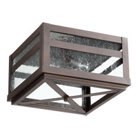 Quorum 372-13-86 Clermont 2 Light 13 inch Oiled Bronze Outdoor Ceiling