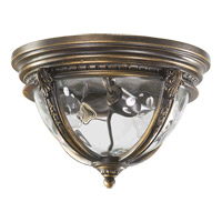Quorum 3720-13-39 Pemberton 2 Light 13 inch Bronze Patina Outdoor Ceiling Light