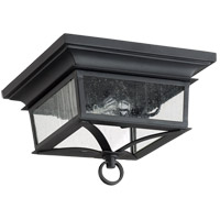Quorum 3730-14-69 Pavilion 2 Light 14 inch Noir Outdoor Flush Mount