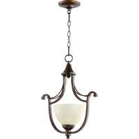 Quorum 3731-86 Lariat 1 Light 14 inch Oiled Bronze Pendant Ceiling Light