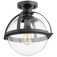 Quorum 38-13-69 Meridian 1 Light 13 inch Noir Semi Flush Mount Ceiling Light