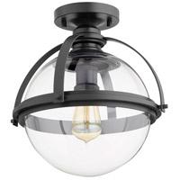 Quorum 38-13-69 Meridian 1 Light 13 inch Noir Semi Flush Mount Ceiling Light