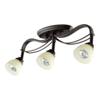 Quorum 3831-3-86 Lariat 3 Light 3 inch Old World Flush Mount Ceiling Light