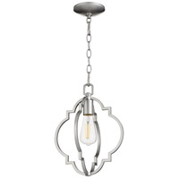 Quorum 3842-64 Dublin 1 Light 11 inch Classic Nickel Pendant Ceiling Light Quorum Home