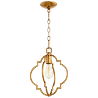 Quorum 3842-74 Dublin 1 Light 11 inch Gold Leaf Pendant Ceiling Light, Quorum Home