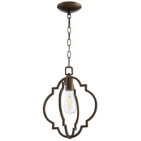 Quorum 3842-86 Dublin 1 Light 11 inch Oiled Bronze Pendant Ceiling Light Quorum Home
