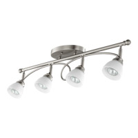 Brooks 4 Light 3 inch Satin Nickel Ceiling Mount Ceiling Light