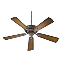 Quorum 38525-58 Kingsley 52 inch Mystic Silver with Reversible Mystic Silver and Pecan Blades Ceiling Fan in Mystic Silver With Pecan