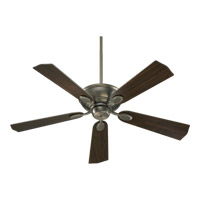 Quorum 38525-92 Kingsley 52 inch Antique Silver Ceiling Fan in Antique Silver and Walnut