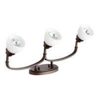 Quorum 3860-3-86 Reyes 3 Light 5 inch Oiled Bronze Flush Mount Ceiling Light