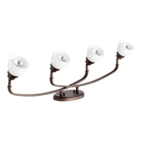 Quorum 3860-4-86 Reyes 4 Light 5 inch Oiled Bronze Flush Mount Ceiling Light