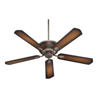 Quorum 38605-58 Kingsley 60 inch Mystic Silver with Reversible Mystic Silver and Pecan Blades Ceiling Fan in Mystic Silver With Pecan