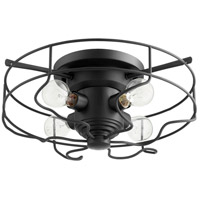 Quorum 3905-17-69 Signature 4 Light 18 inch Noir Semi Flush Mount Ceiling Light