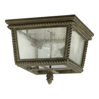Rochelle 2 Light 14 inch Etruscan Sienna Outdoor Ceiling Light