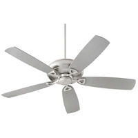 Alto 62 inch Satin Nickel with Reversible Silver and Walnut Blades Ceiling Fan