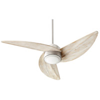 Quorum 41523-65 Trinity 52 inch Satin Nickel with Weathered Oak Blades Ceiling Fan