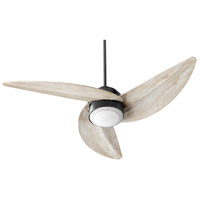 Quorum 41523-69 Trinity 52 inch Noir with Weathered Oak Blades Ceiling Fan