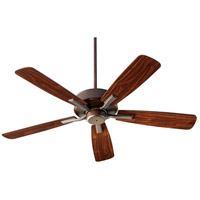 Villa 52 inch Oiled Bronze with Oiled Bronze/Walnut Blades Indoor Ceiling Fan