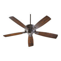 Quorum 42605-44 Alton 60 inch Toasted Sienna with Toasted Sienna and Walnut Blades Ceiling Fan
