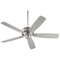 Quorum 42605-65 Alton 60 inch Satin Nickel with Satin Nickel and Walnut Blades Indoor Ceiling Fan