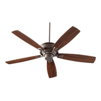 Quorum 42605-86 Alton 60 inch Oiled Bronze with Teak and Walnut Blades Ceiling Fan