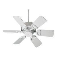 Quorum 43306-6 Estate 30 inch White Ceiling Fan