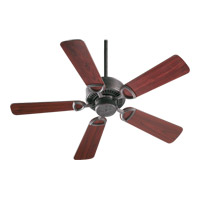 Quorum 43425-44 Estate 42 inch Toasted Sienna with Rosewood Blades Ceiling Fan
