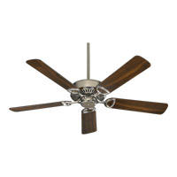Quorum 43525-65 Estate 52 inch Satin Nickel Ceiling Fan