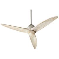 Quorum 45543-65 Larkin 54 inch Satin Nickel with Weathered Oak Blades Ceiling Fan