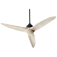 Quorum 45543-69 Larkin 54 inch Noir with Weathered Oak Blades Ceiling Fan