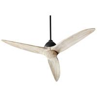 Quorum 45543-69 Larkin 54 inch Noir with Weathered Oak Blades Ceiling Fan