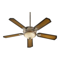 Galloway 52 inch Mystic Silver Ceiling Fan in Mystic Silver and Pecan