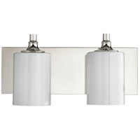 Quorum 5009-2-62 Celeste 17 inch Polished Nickel Vanity Wall Light, Opal
