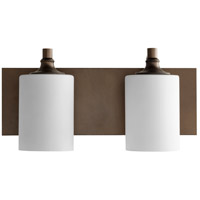 Quorum 5009-2-86 Celeste 17 inch Oiled Bronze Vanity Wall Light Satin Opal