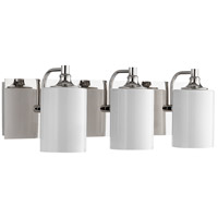 Quorum 5009-3-62 Celeste 25 inch Polished Nickel Vanity Wall Light, Opal